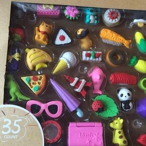 🧚🏼♀️Box of 35 3D erasers